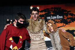 Cast of characters roars on stage