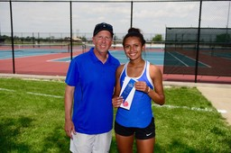 Kyra Foster competes at State Individuals for Tennis
