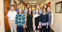 Canterbury Recognizes Eleven Area Grade 8 Students with Scholar Awards